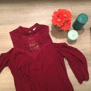 Cold Shoulder Boho Dress